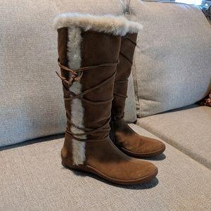Banana Republic Suede Sherpa Boots